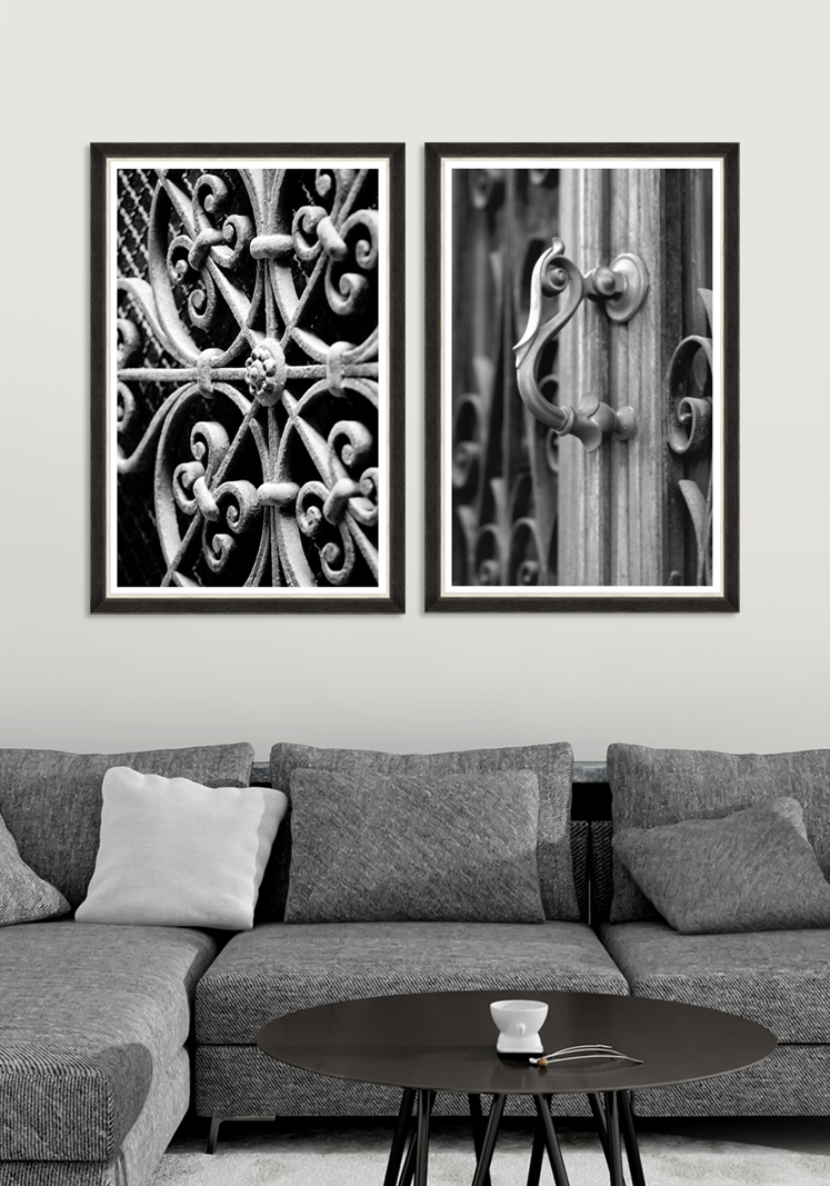 Tablou 2 piese Framed Art Iron Ornaments imagine