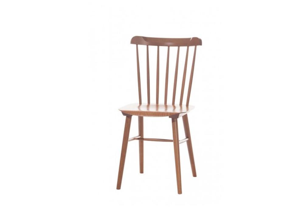 Scaun din lemn de fag Ironica Brown, l44xA47,5xH84,5 cm