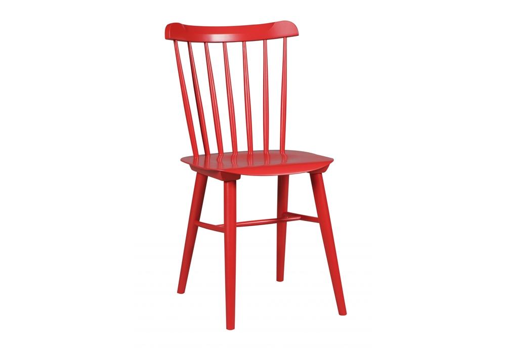Scaun din lemn de fag Ironica Red, l44xA47,5xH84,5 cm