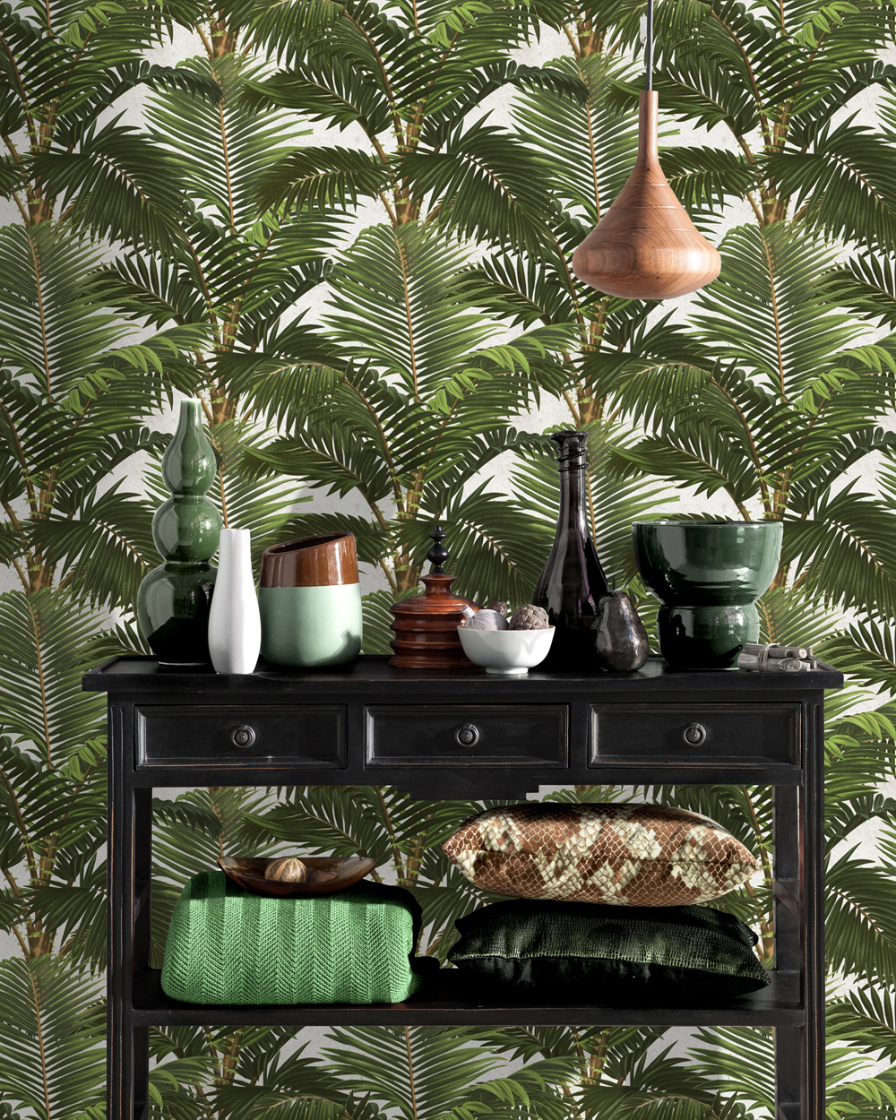 Set 3 role Tapet Imprimat Digital Jardin Tropical imagine