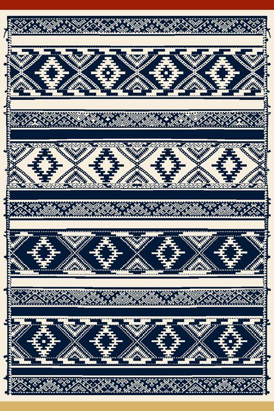 Covor Jasmin Navy Blue, Wilton