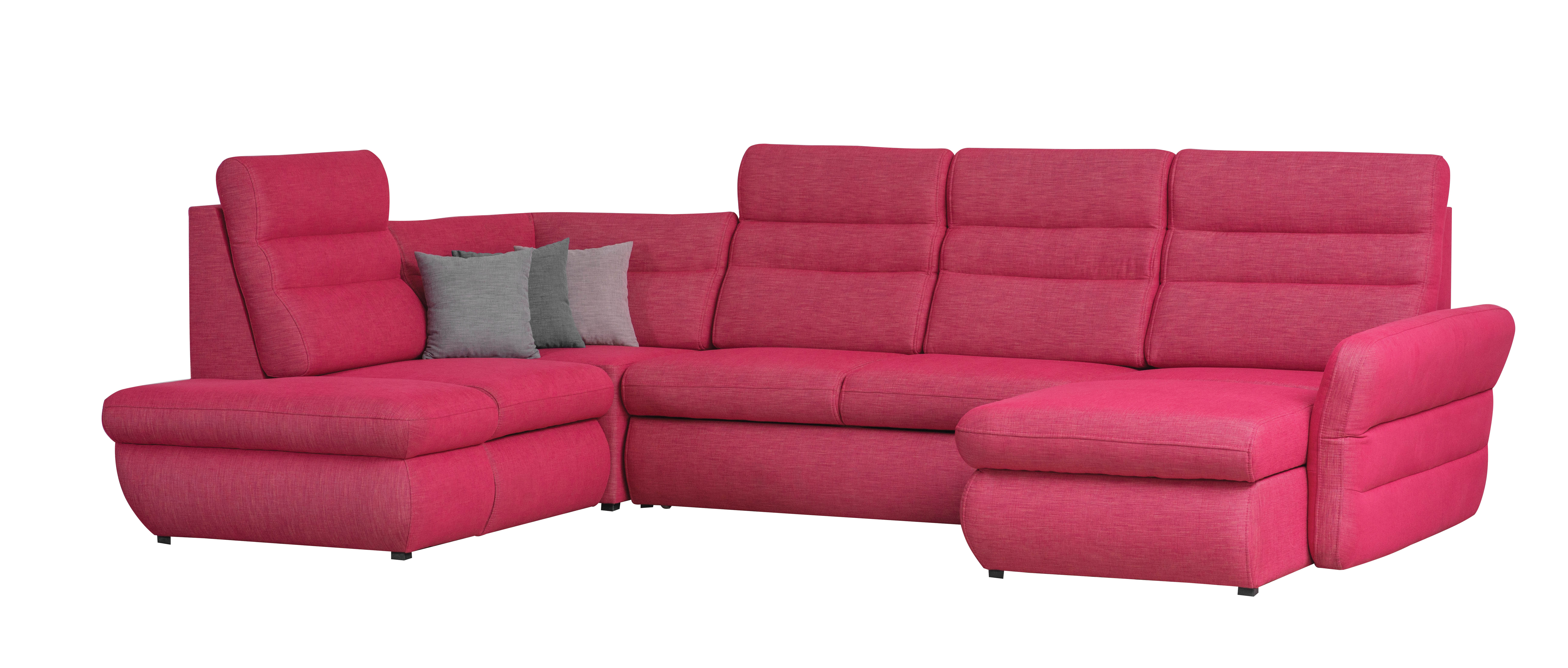 Coltar extensibil cu lada de depozitare, cu sezlong pe stanga Jazz Pink, l335xA217xH106 cm