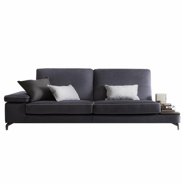 Canapea fixa 3 locuri Jefferson Blue, l243xA95xH72 cm