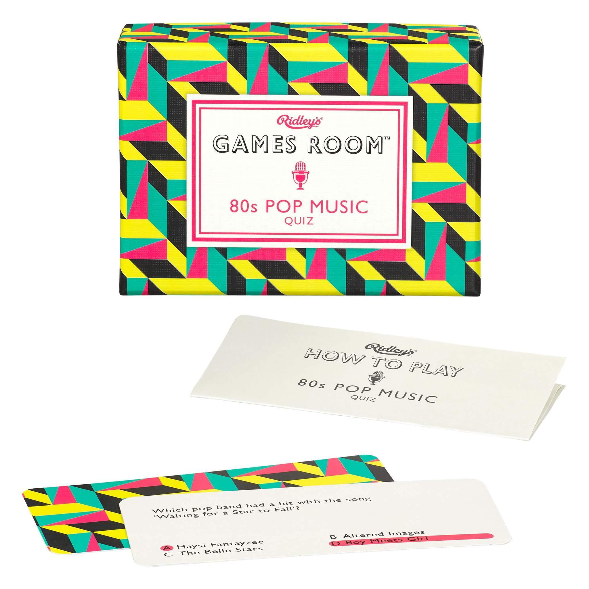 Joc de societate Quiz 80's Pop Music Ridley's GAM045, Wild & Wolf, 16 + imagine
