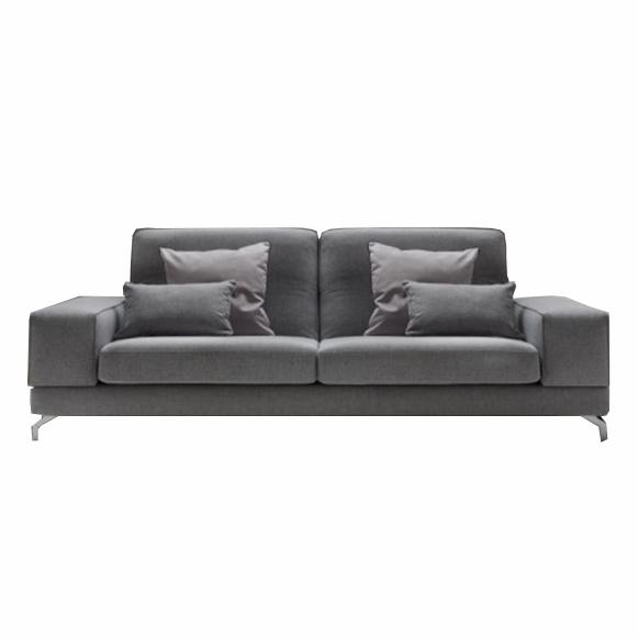 Canapea fixa 3 locuri Johnson Grey, l243xA95xH72 cm imagine