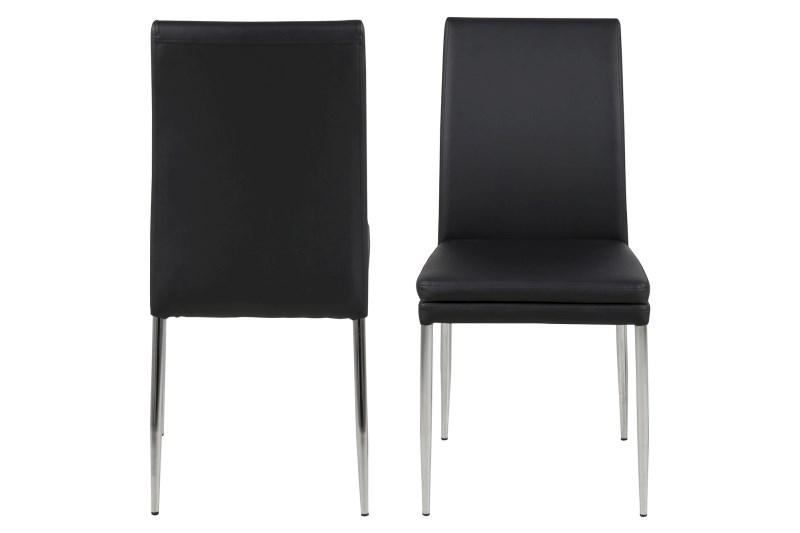 Set 2 scaune din metal tapitate Jolene Black