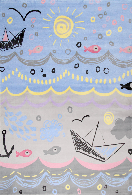 Covor pentru copii Junior Boats, Multicolor JU-303B