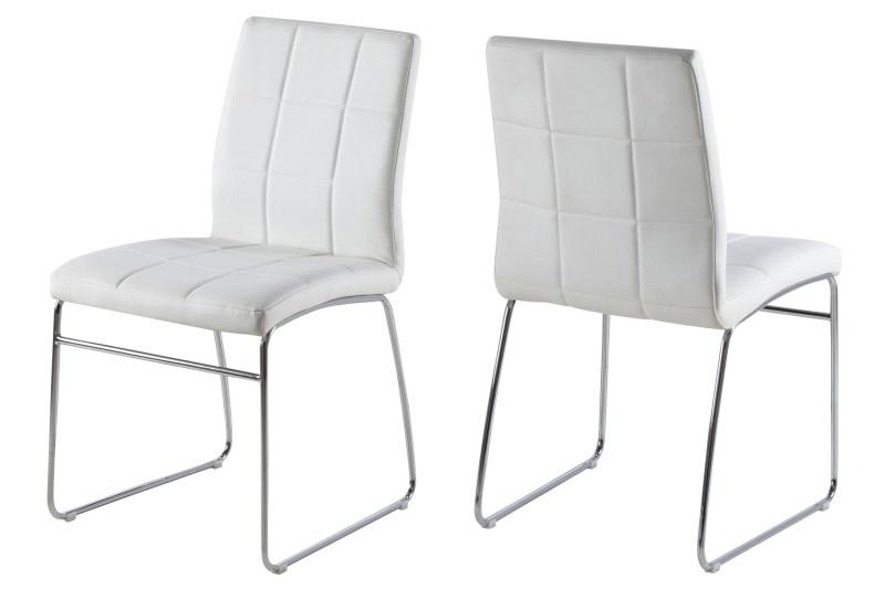 Set 4 scaune metalice tapitate Justin White