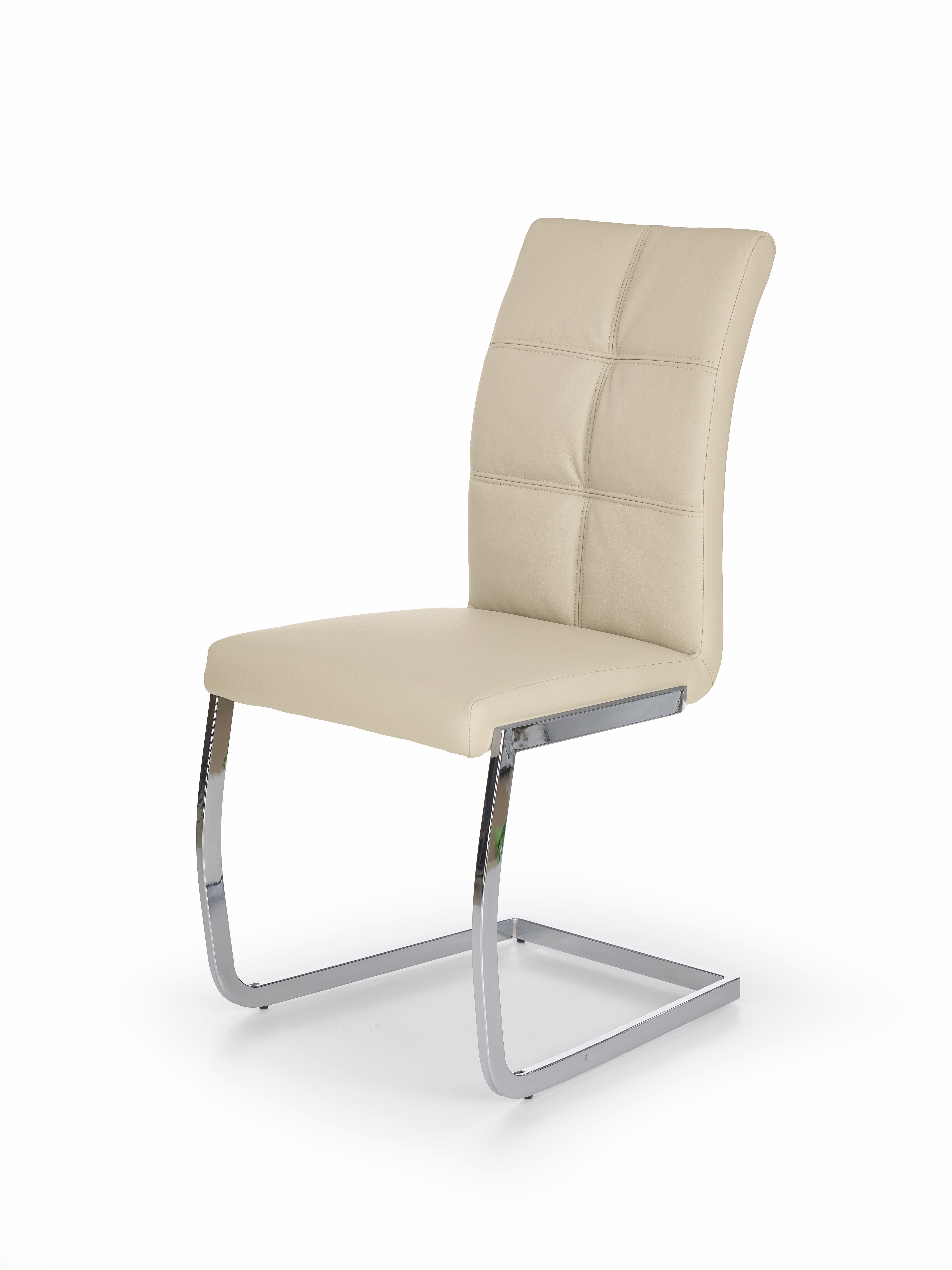 Scaun din metal tapitat cu piele ecologica K228 Cream
