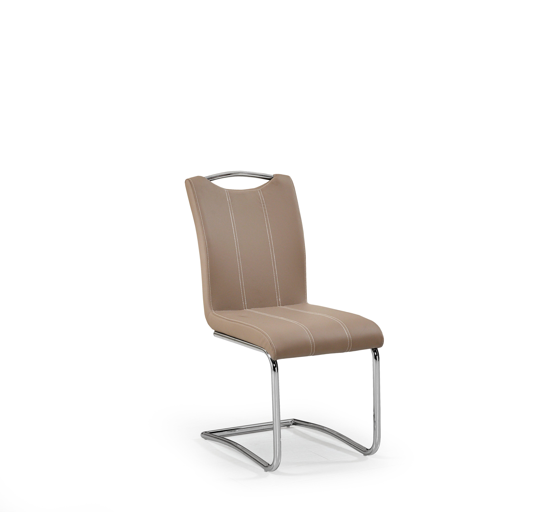 Scaun din metal tapitat cu piele ecologica K234 Cappuccino