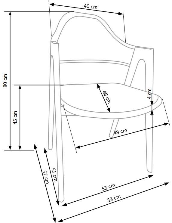 Scaun din metal tapitat cu piele ecologica K247 Grey