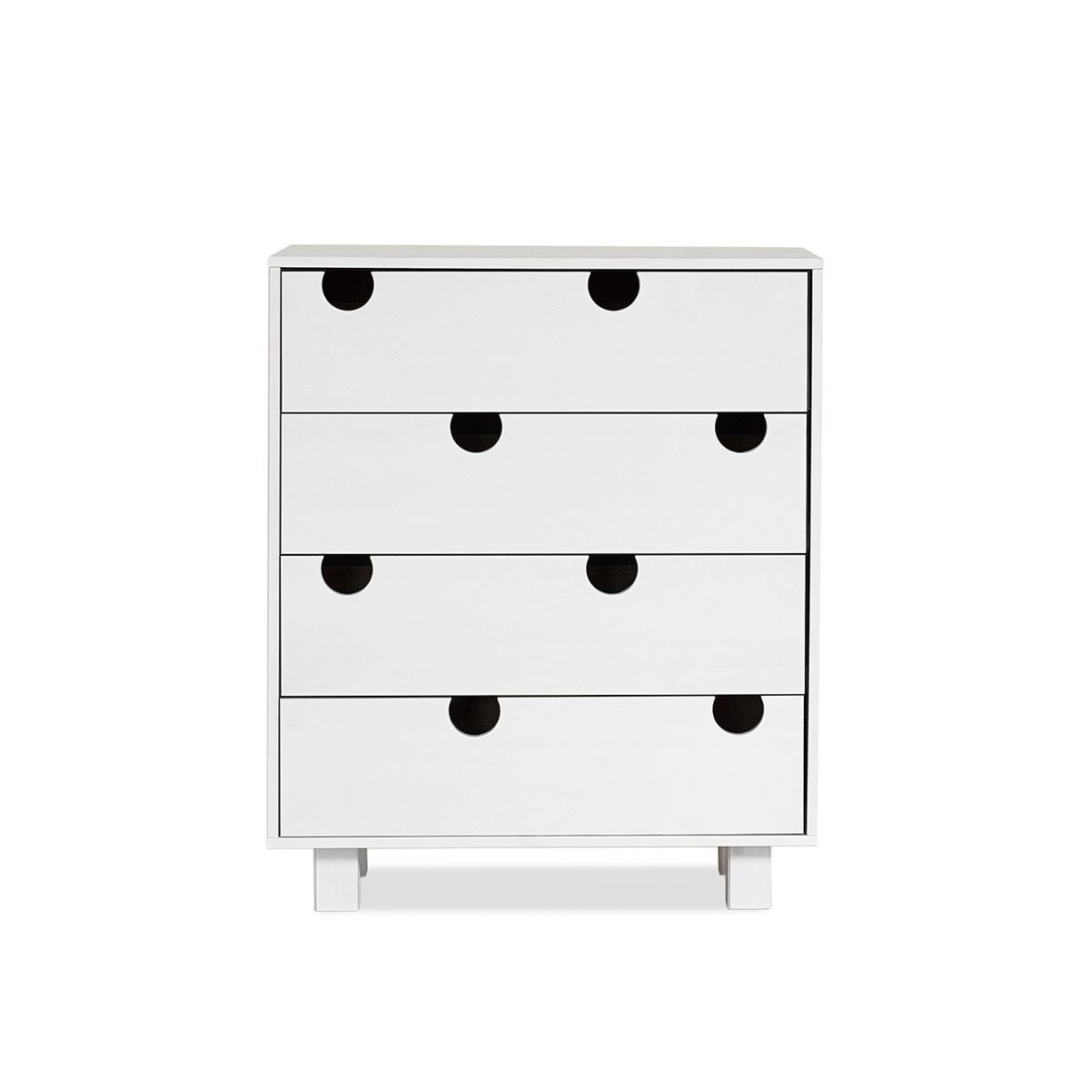 Cabinet din lemn de pin cu 4 sertare House White l75xA40xH90 cm