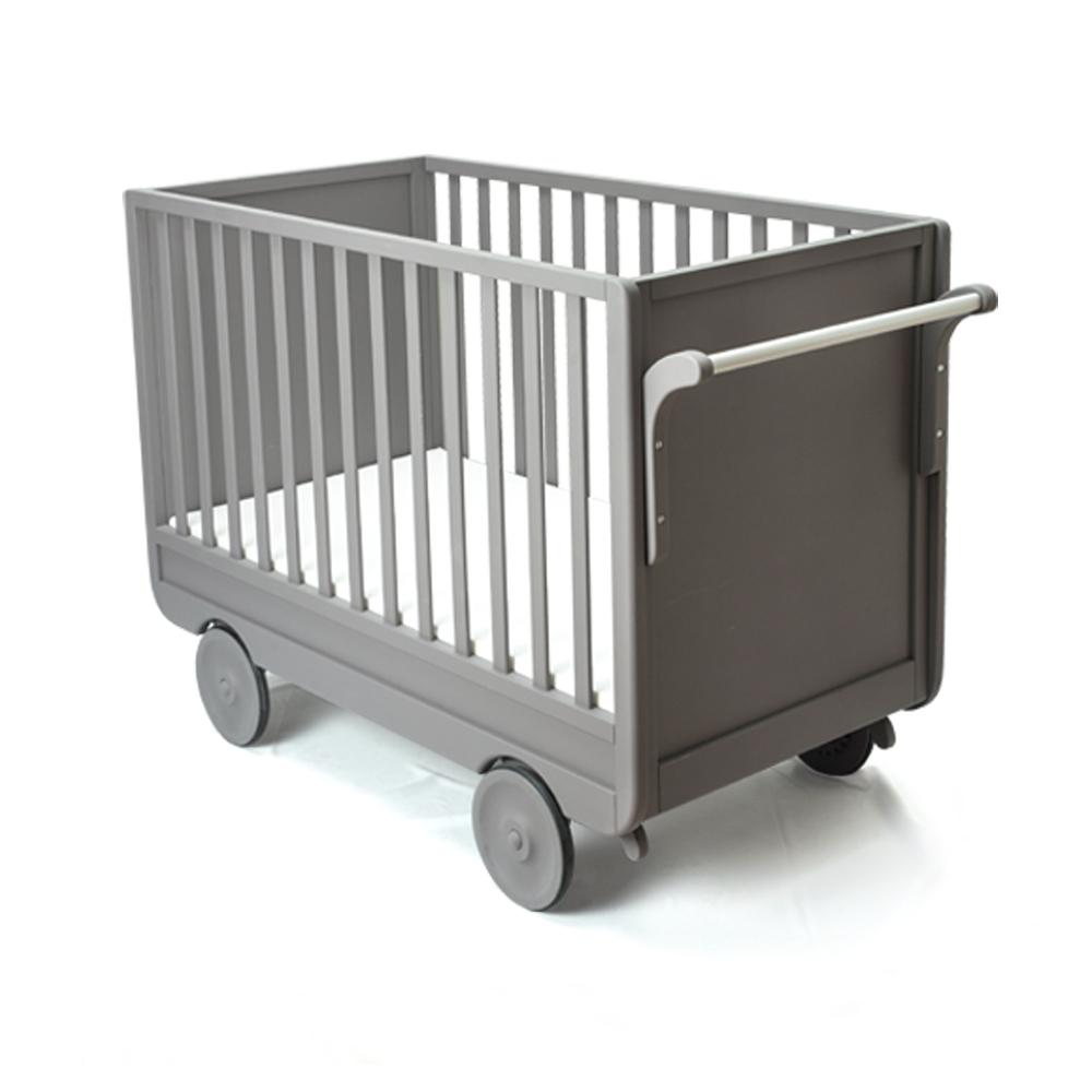 Patut din lemn de fag si MDF pentru bebe Carolina Grey l135xA35xH90 cm