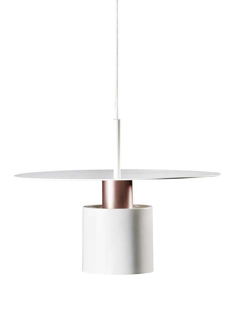 Lustra Kolorit White / Copper  Ø 34 Cm