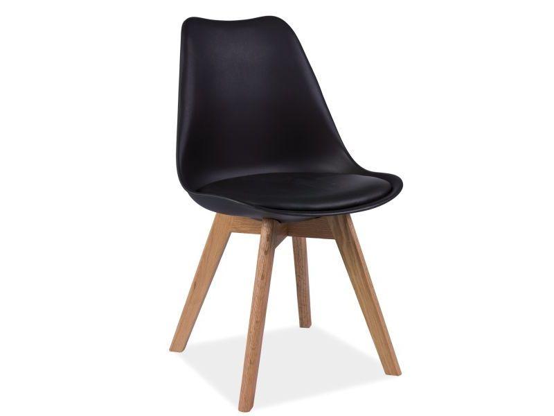 Scaun din lemn Kris Oak Black