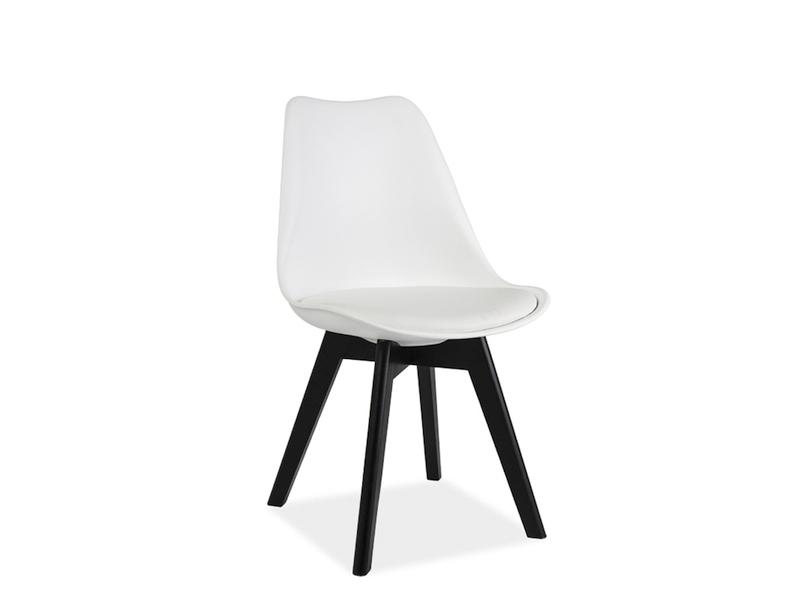 Scaun din lemn Kris II White/Black