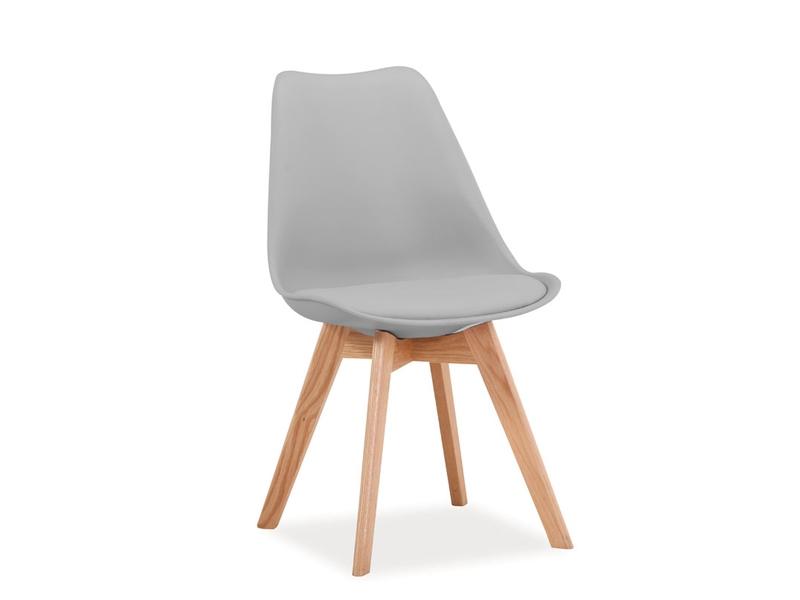 Scaun din lemn Kris Light Grey