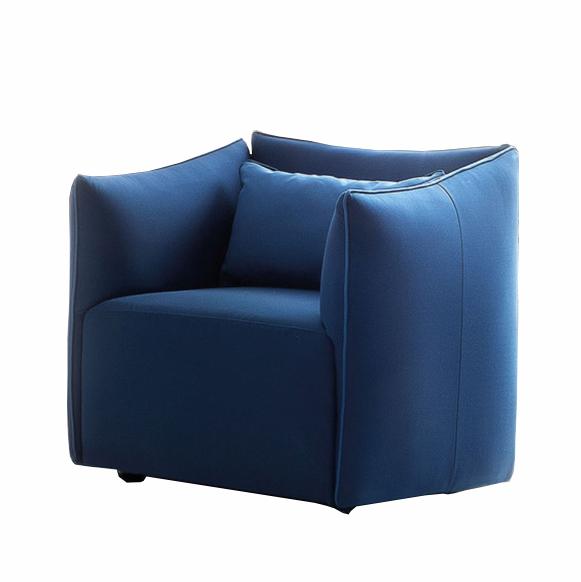 Fotoliu fix tapitat cu stofa Kubik Blue, l82xA76xH78 cm din categoria Fotolii Fixe
