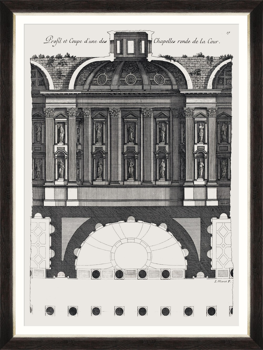 Tablou Framed Art L`architecture Francais By Marot I