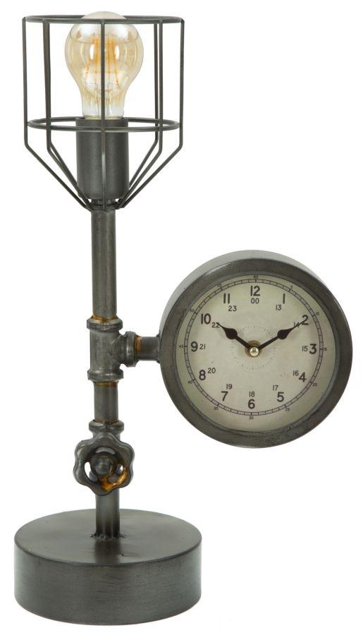 Lampa de birou Industry Clock Gri inchis