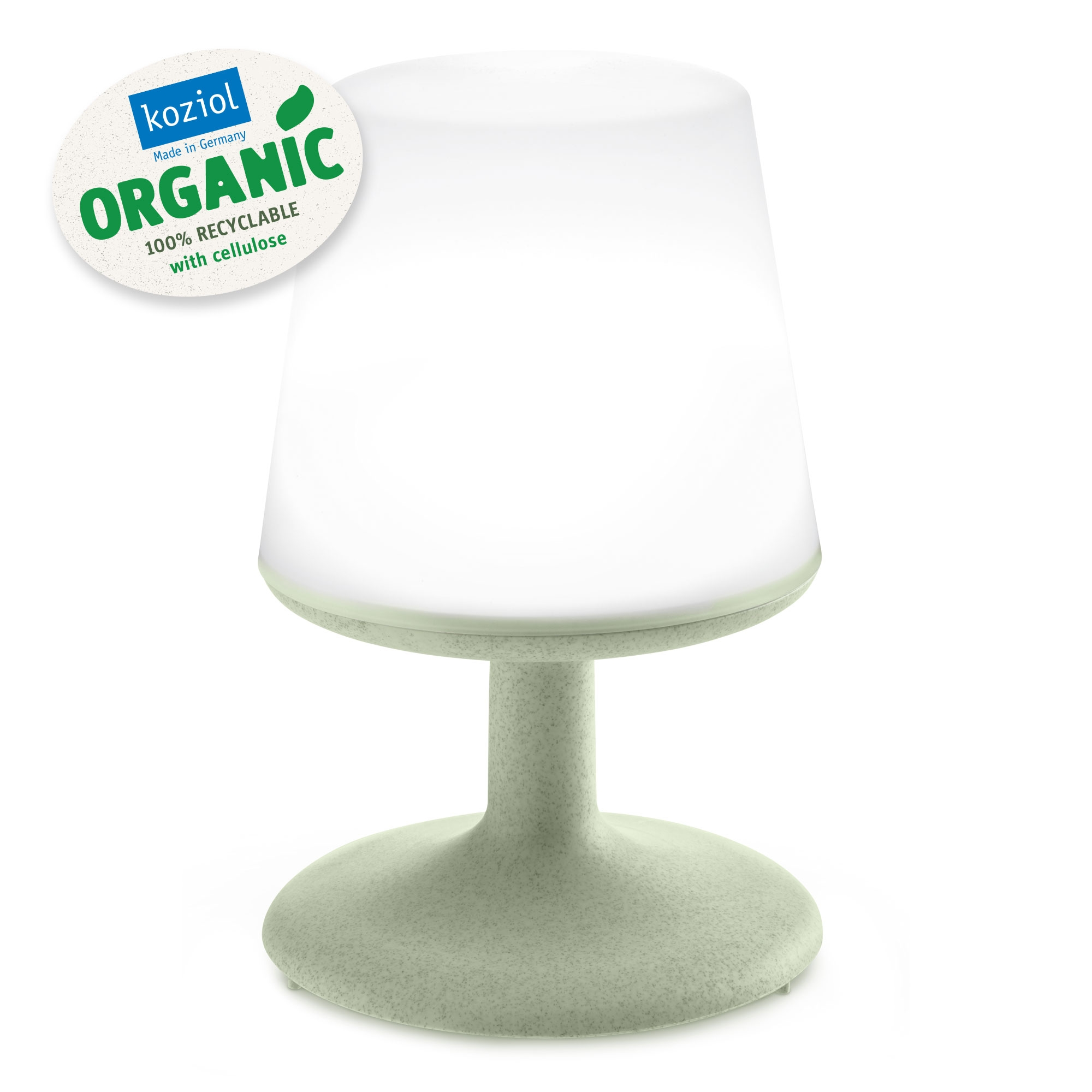 Lampa de veghe cu port USB, Light To Go Verde, Ø18xH28 cm imagine
