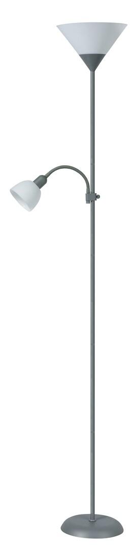 Lampadar Action 4028 Argintiu / Alb