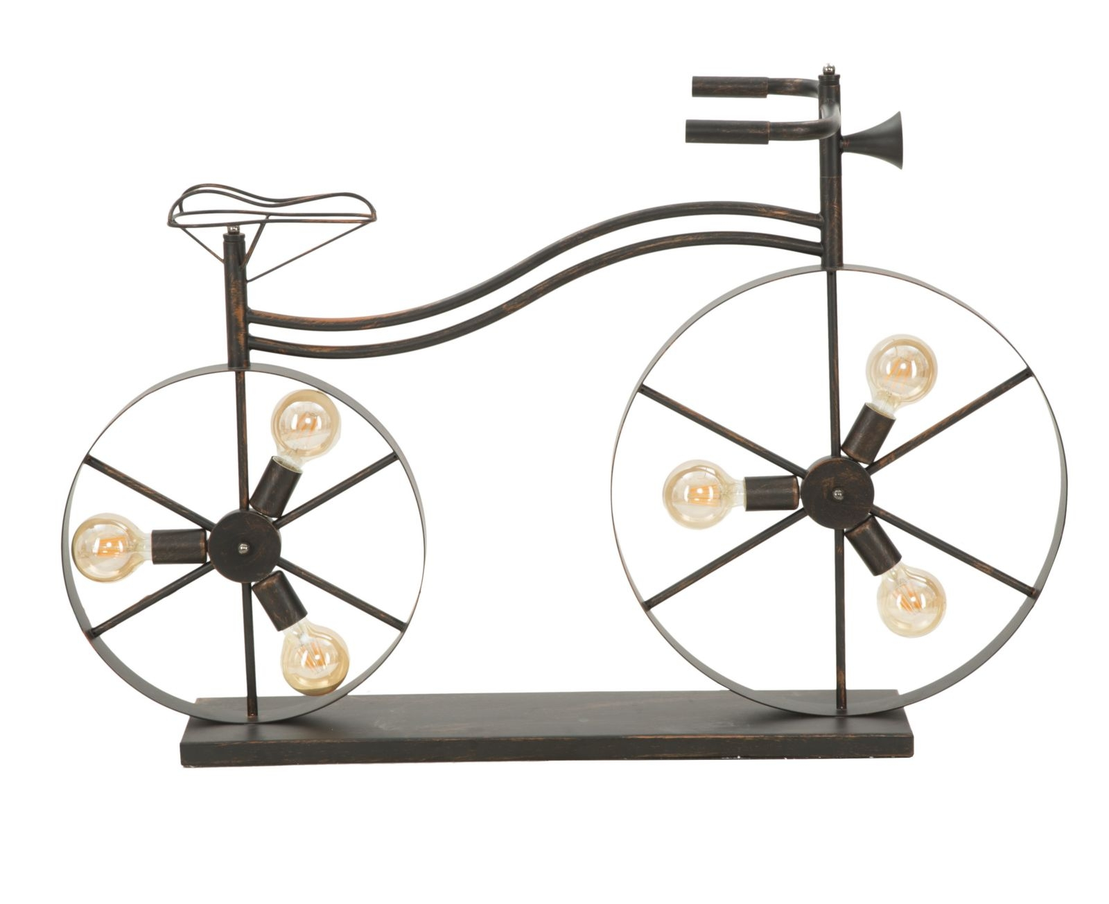 Lampadar din metal Bicicletta Black / Copper
