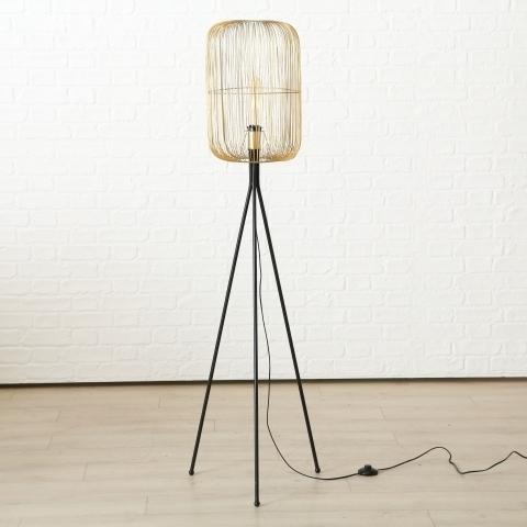 Lampadar Roberta Auriu / Negru, Ø31xH157 cm