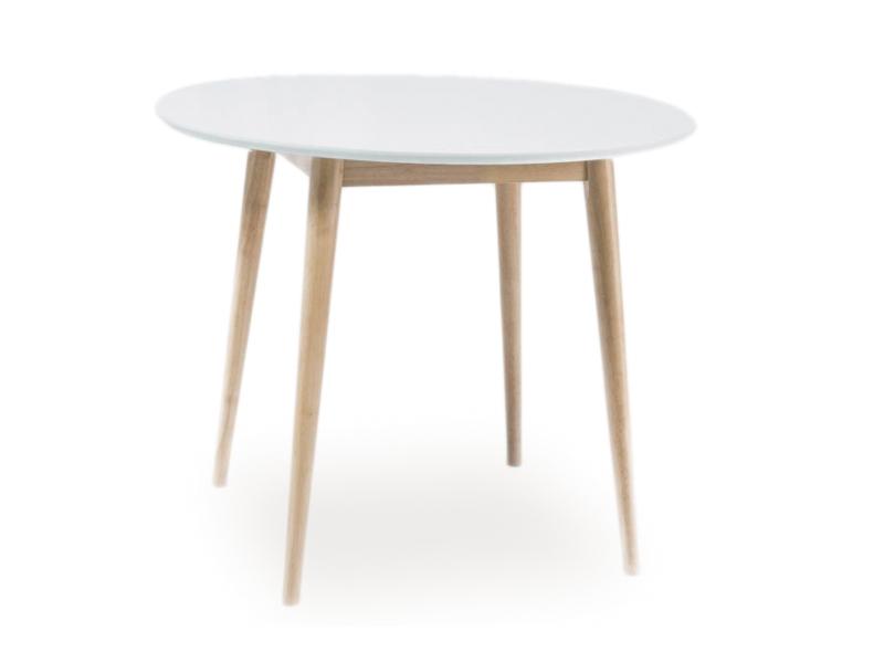 Masa din MDF si lemn Larson, Ø90xh75 cm imagine