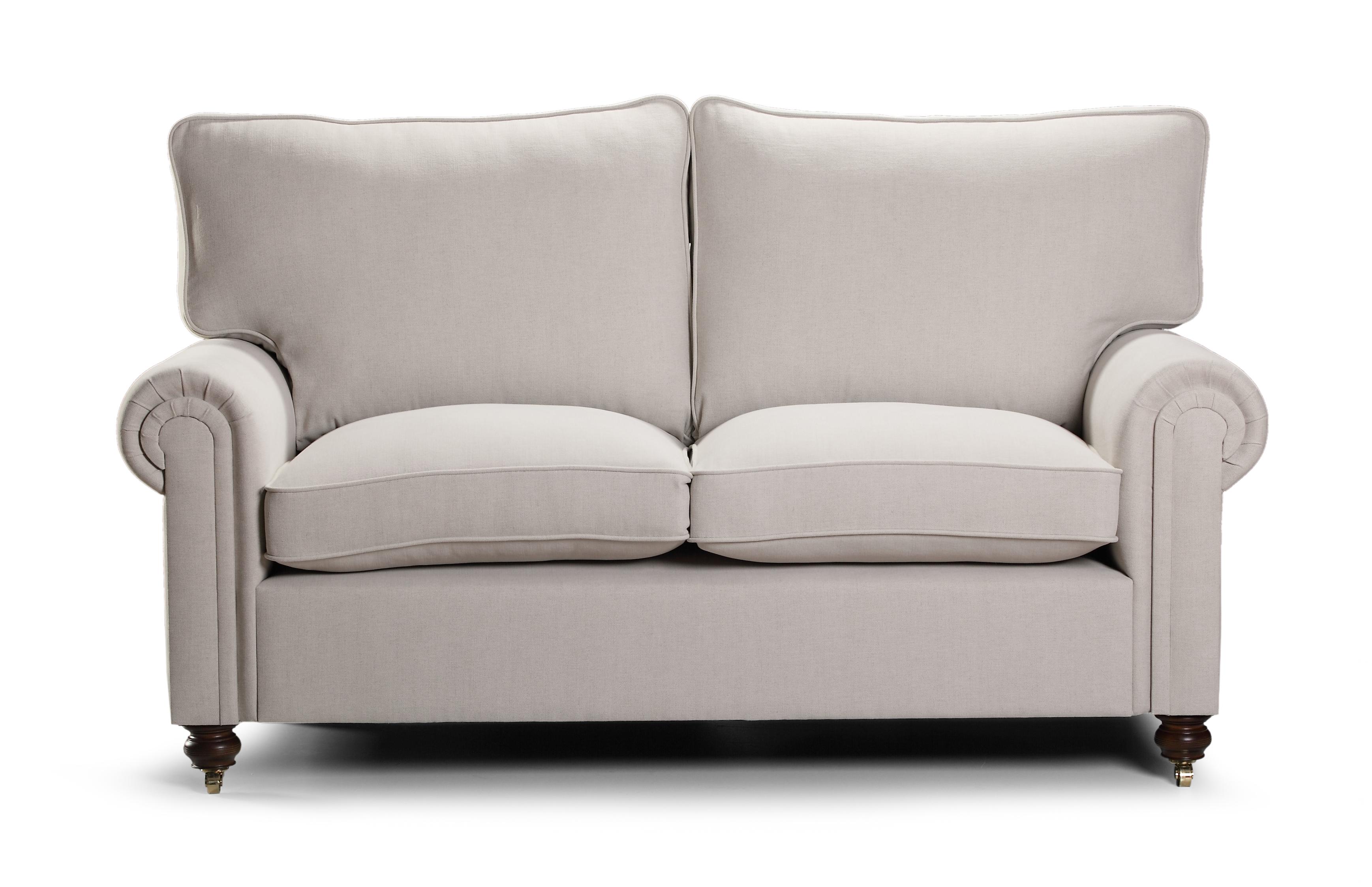 Canapea fixa 2 locuri tapitata cu stofa Laxley