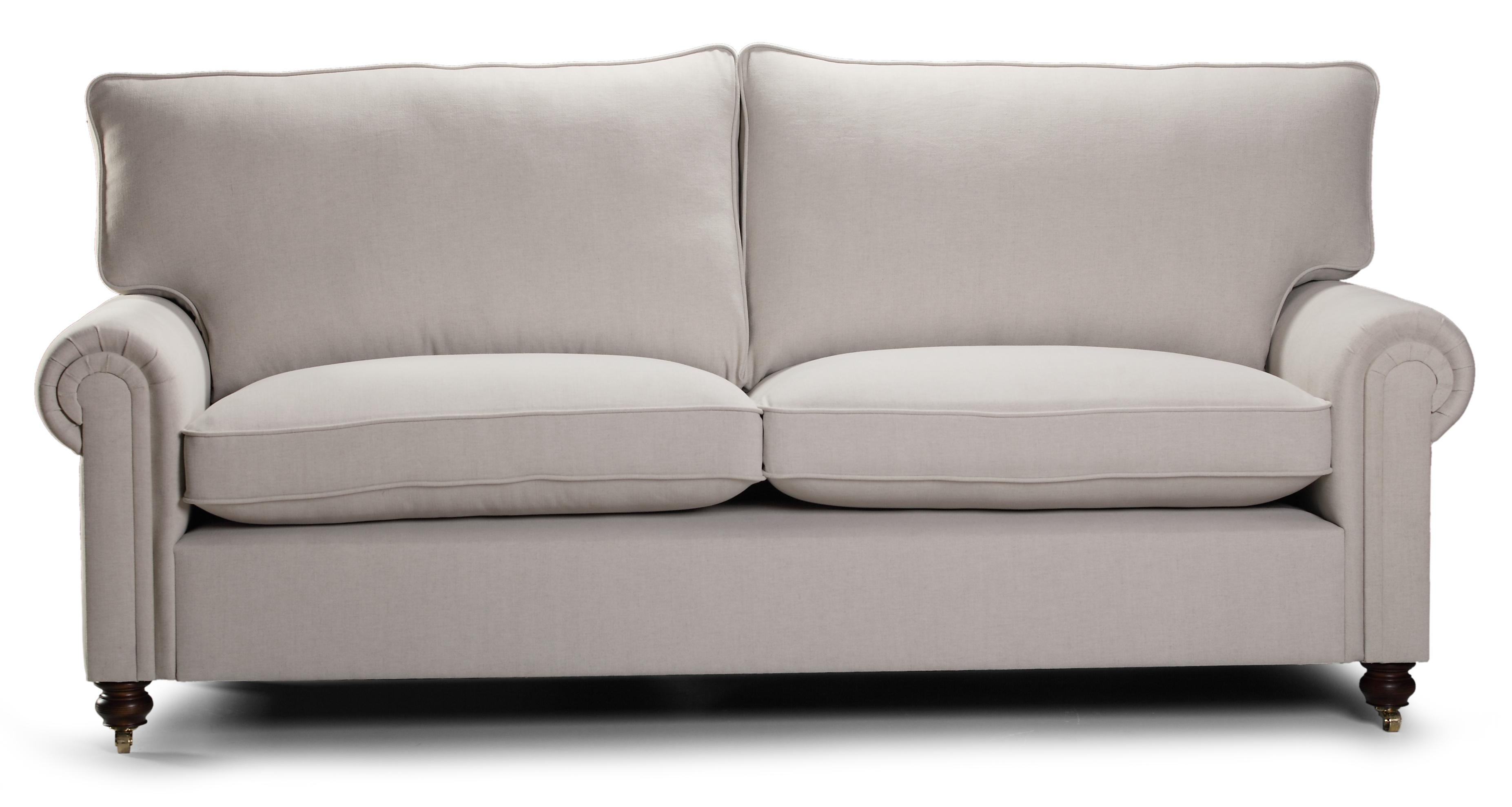 Canapea fixa 3 locuri tapitata cu stofa Laxley