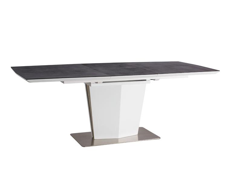 Masa din MDF Lazzio White/Grey L160-210xl90xh76 cm