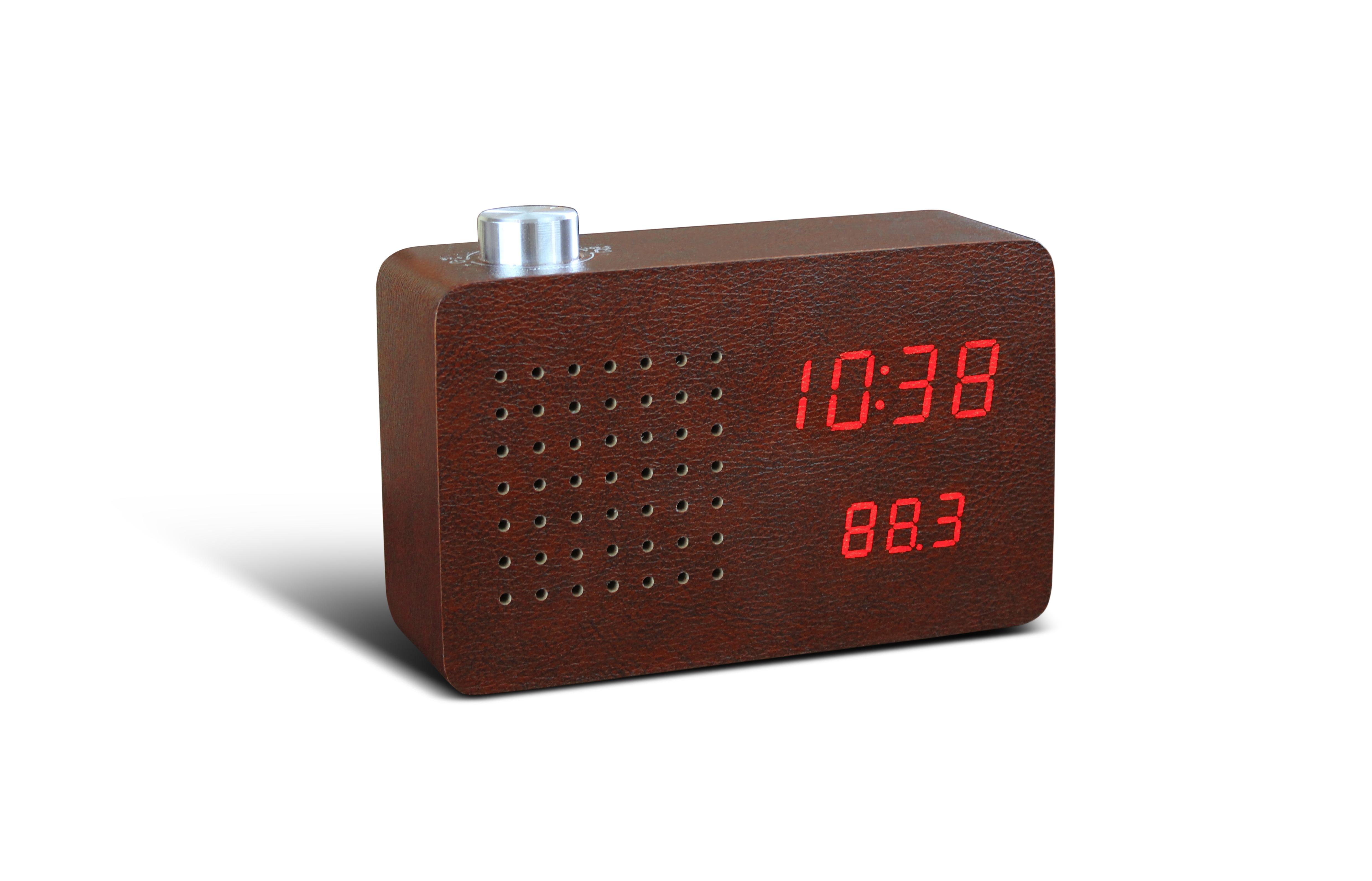 Ceas Radio Click Clock Leatherette