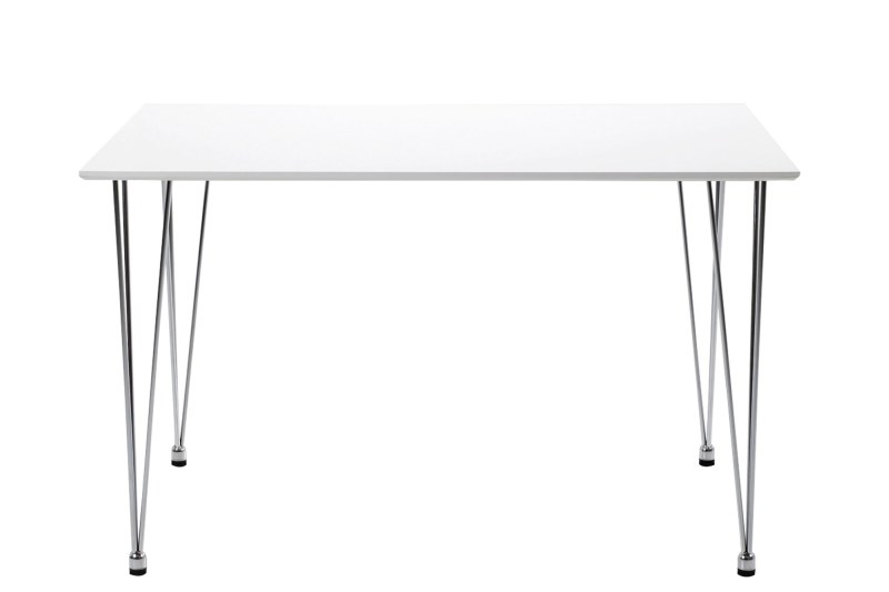 Masa din MDF si metal Lene Dining White, L120xl76xh73 cm