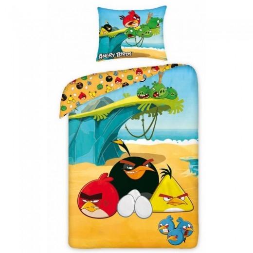 Lenjerie de pat copii Cotton Angry Birds 5005-200 x 160 cm imagine