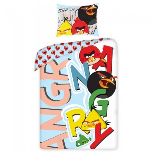 Lenjerie de pat copii Cotton Angry Birds 5007-200 x 160 cm imagine