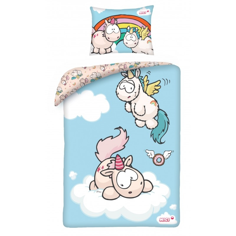 Lenjerie de pat bebelusi Cotton Nici NU-9091BL imagine