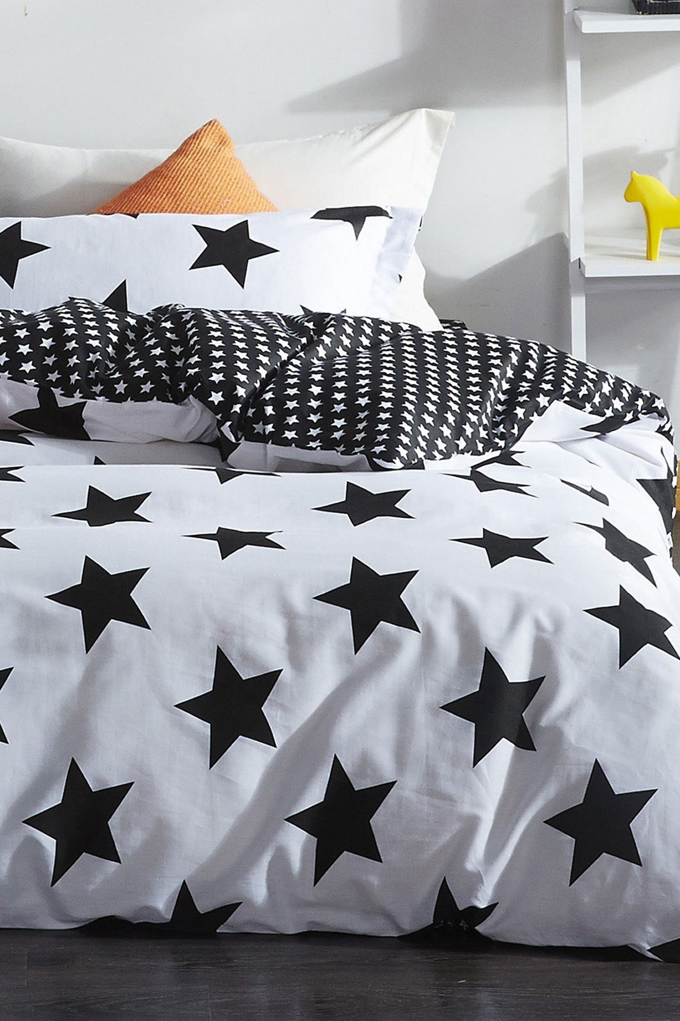 Lenjerie de pat Big Star Negru / Alb, 200 x 220 cm imagine