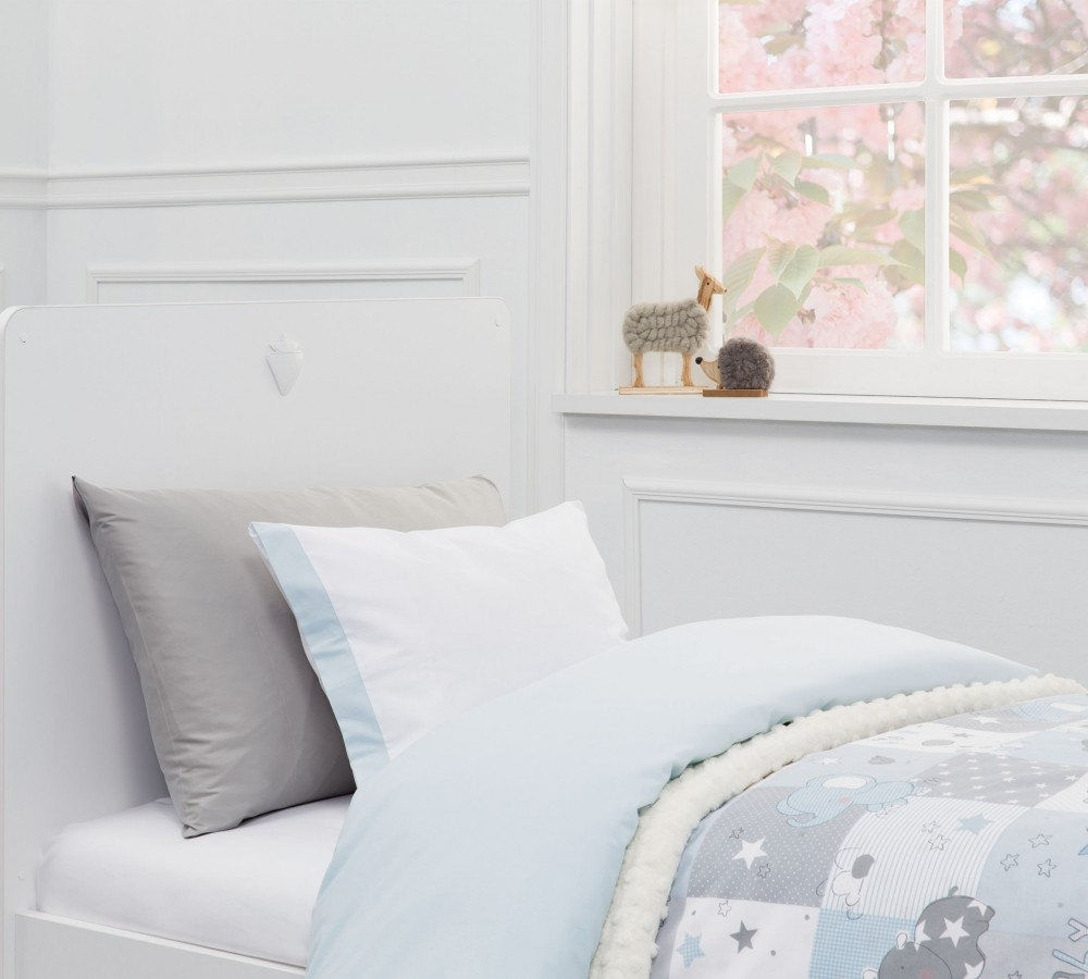 Lenjerie de pat copii bumbac Animals Albastru