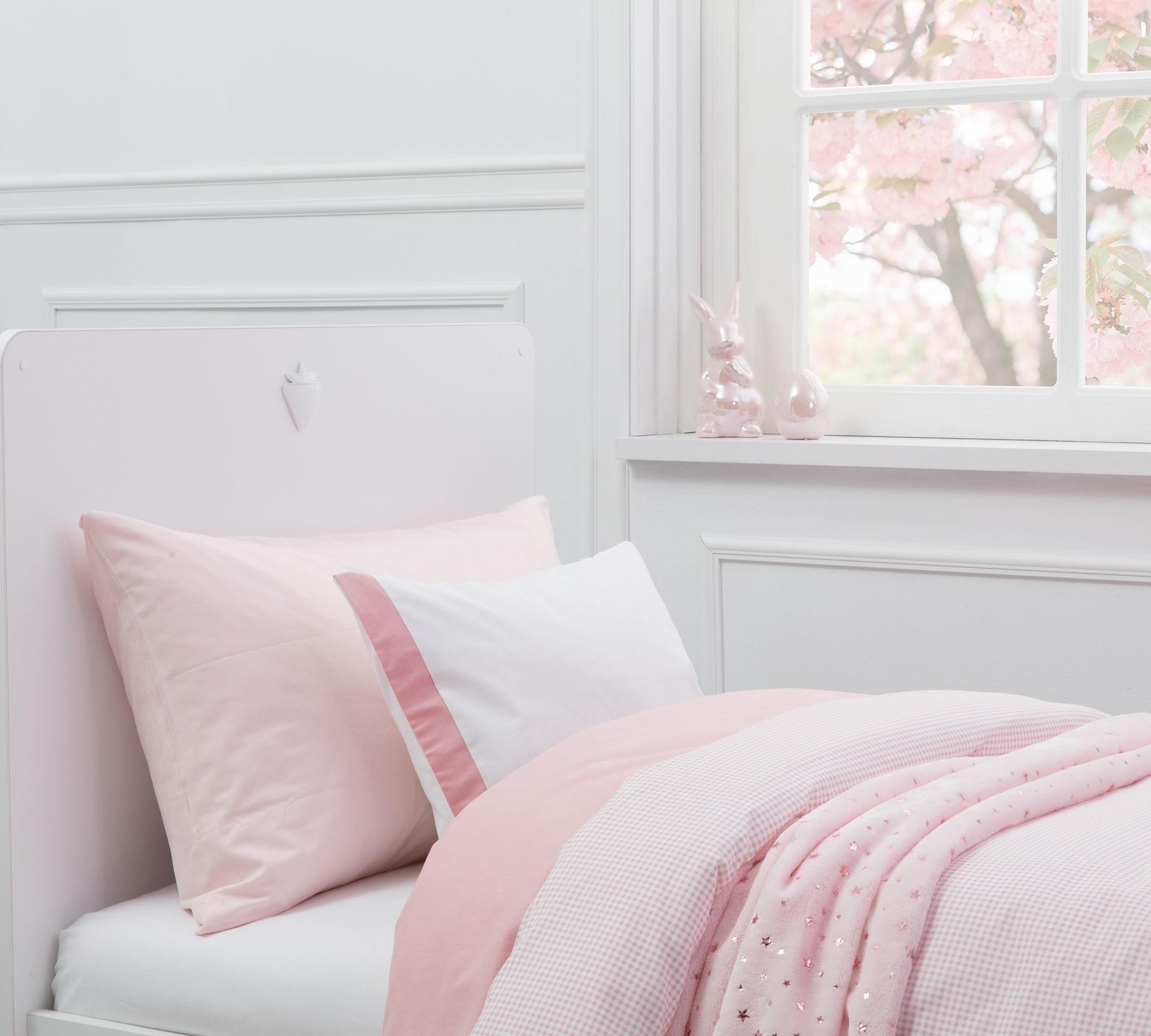 Lenjerie de pat copii bumbac Pure Roz imagine
