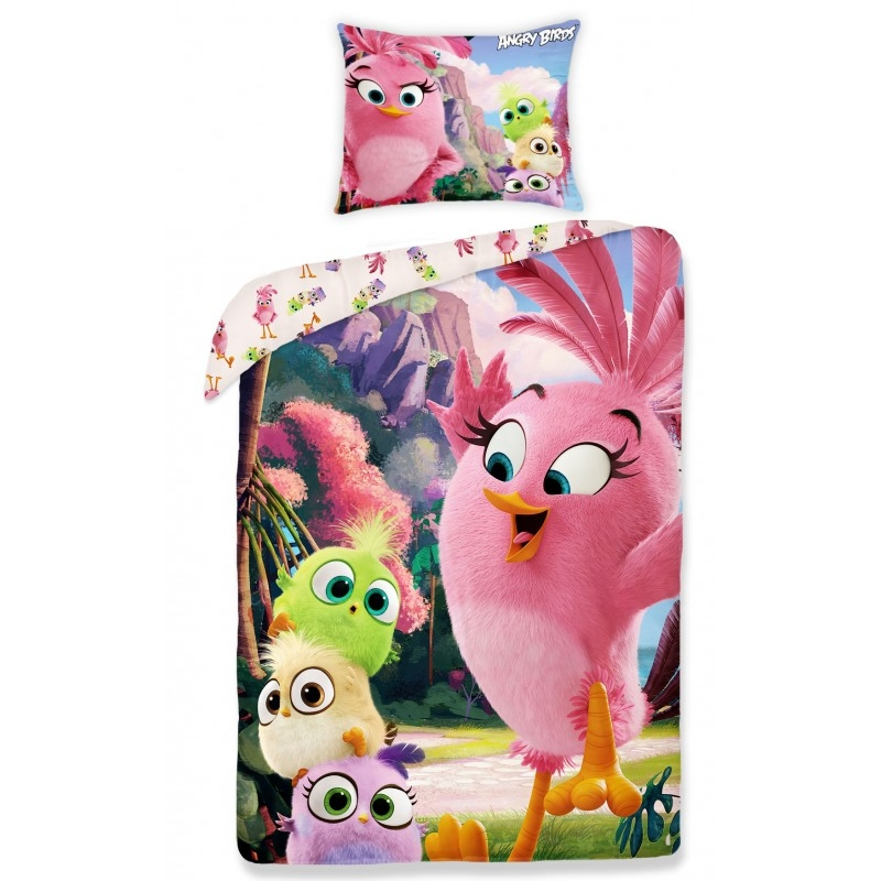 Lenjerie de pat copii Cotton Angry Birds 1155-200 x 140 cm