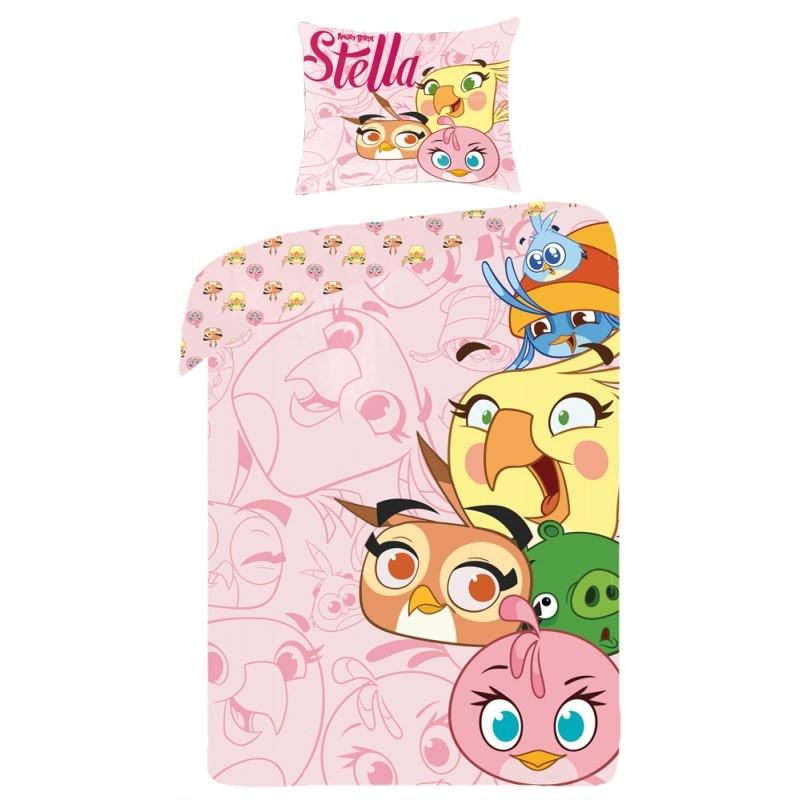 Lenjerie de pat copii Cotton Angry Birds 8002-200 x 160 cm