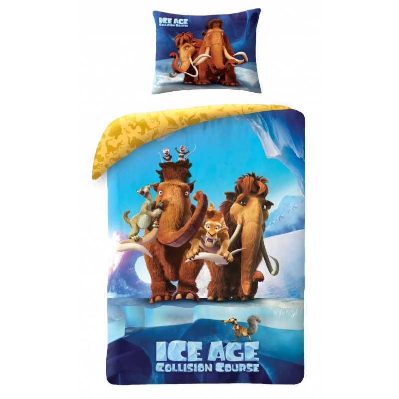 Lenjerie de pat copii Cotton Ice Age IA-7010BL-200 x 140 cm imagine 2021