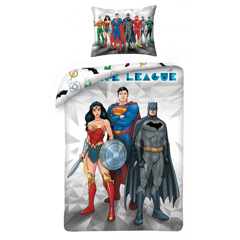 Lenjerie de pat copii Cotton Justice League JL-8101BL