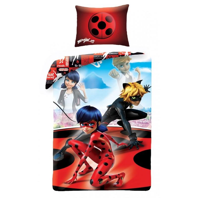 Lenjerie de pat copii Cotton Miraculous MI-0108BL-200 x 140 cm