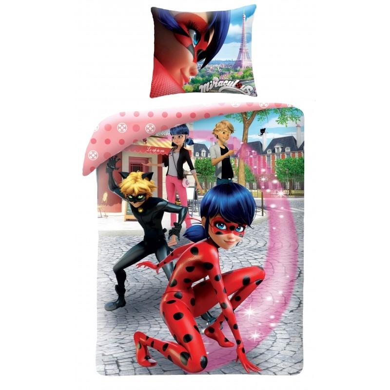Lenjerie de pat copii Cotton Miraculous MI-0111BL-200 x 160 cm