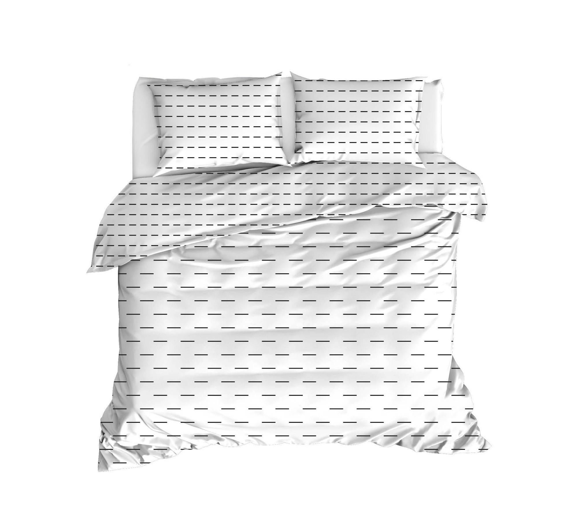 Lenjerie de pat din bumbac Ranforce Cub Alb / Negru, 200 x 220 cm imagine 2021