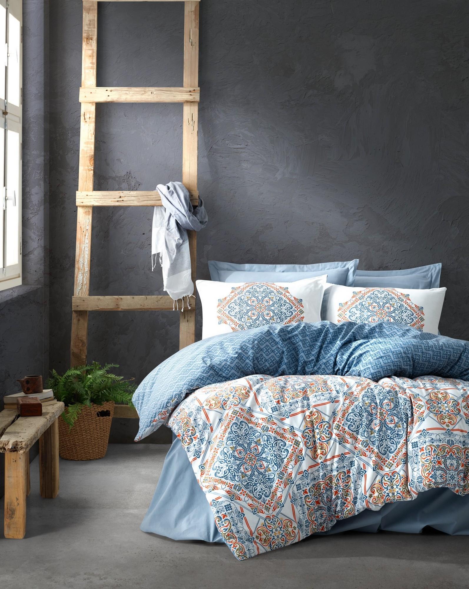 Lenjerie de pat din bumbac Ranforce, Grande Multicolor, 200 x 220 cm