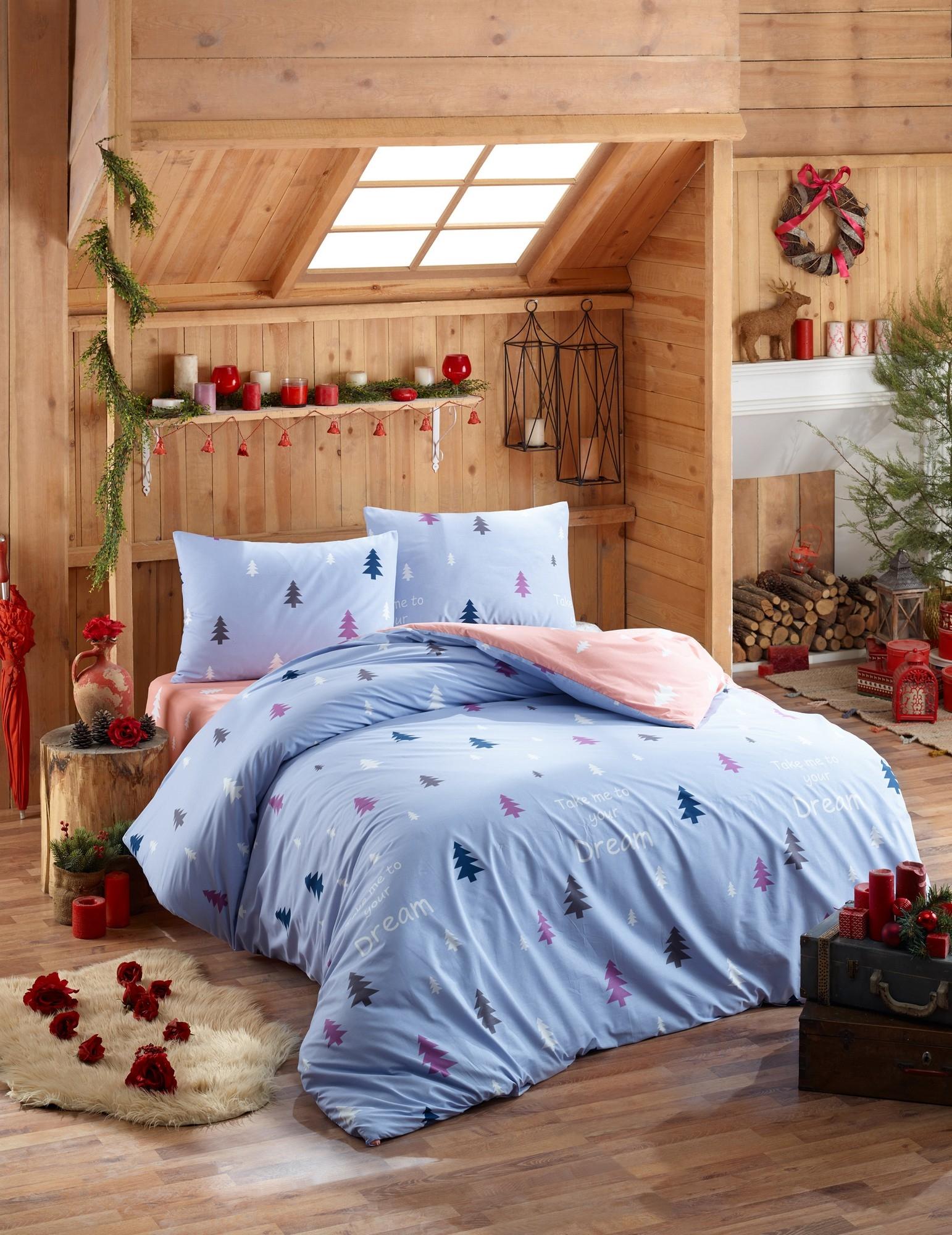 Lenjerie de pat din bumbac Ranforce Takeme Multicolor, 200 x 220 cm imagine