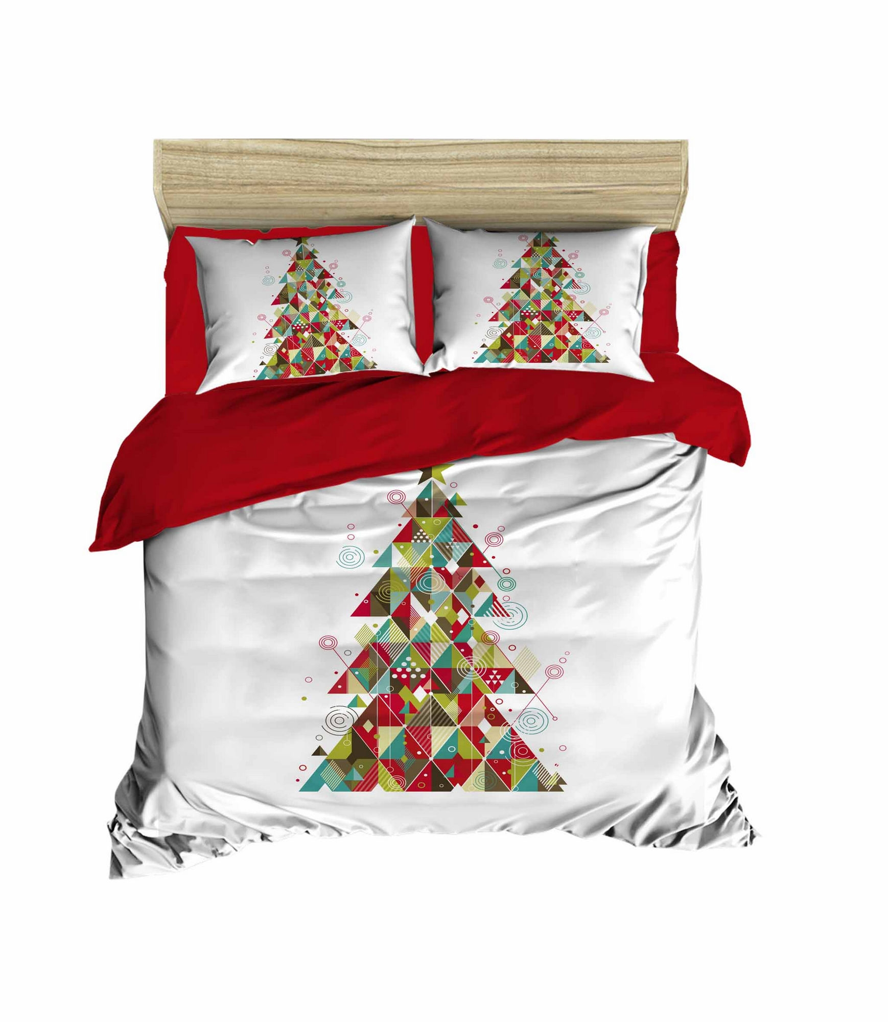 Lenjerie de pat din bumbac si microfibra Christmas 456 Multicolor, 200 x 220 cm